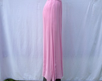 Layered and Embroidered Pink Maxi Skirt by Ghost, England ~ S/M