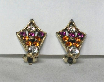 Refurbished Vintage Clip-on Earrings with New Swarovski Crystals