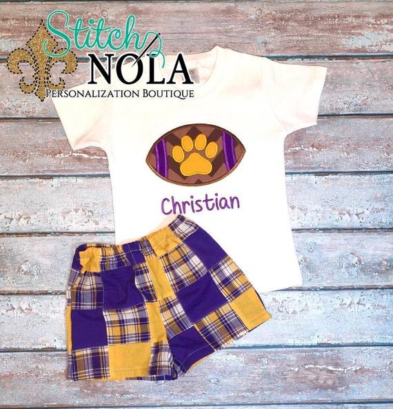 Purple and Gold Football Shirt and Shorts Set