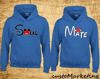 Couple Hoodie - Soul Mate - 2 Couple Hodies - Matching Love Hoodie Valentines Day the Best Gift Girlfriend Boyfriend
