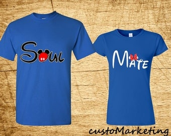 Soul Mate Custom Couple Tshirt Matching Couple T-shirt Best Valentines Day Gift the Best Matching