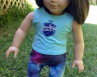 Galaxy Print leggings for 18 inch doll