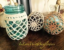 Unique crochet jar cover related items Etsy