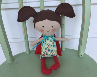 "Little girl ""Super Hero"" doll, perfect for imaginative play!"
