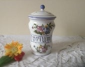 Decorative, French Vintage OPIUM Apothecary / Pharmacy Ceramic Pot Jar, Hand Painted MONTPELLIER Colourful Ceramics, Beautiful Condition!