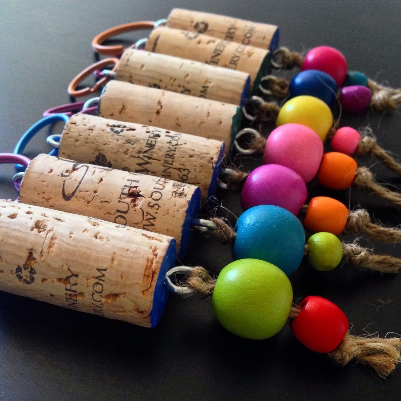 Cork Beads: Recycled Wine Cork Trinket Keychain