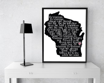 On Wisconsin Digital Art - Can Be Customized!