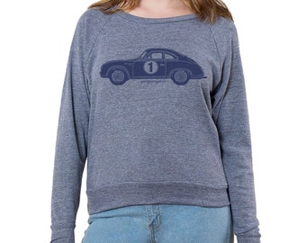 Porsche 356A GT Graphic printed on Women's American Apparel long sleeve pullover