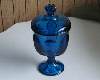 Bluenique Viking Glass Pedestal Jar