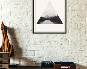 Geometric Forest Triangle Photography Digital Print