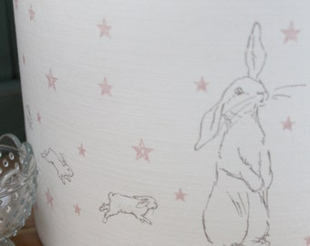 Bunny Star Lamp Shade Pink or Blue