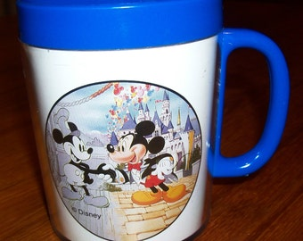 "Vintage Mickey Mouse 60TH Birthday Thermo-Type Mug - ""60 Years with You"" - 1988 - Unused"