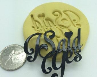 I Said Yes Word Wedding Silicone Mold