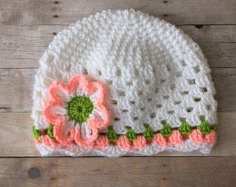 Crochet Beanie, Girls Beanie Hat