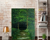 Meadow Painting - Forest Painting - Woodland Painting - Original Painting - Original Oil Painting - Summer Forest Wall Art - Home Decor