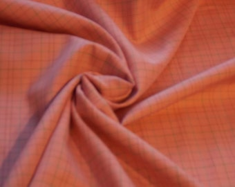 Yarn Dyed Pink Plaid Cotton Shirting fabric by the yard