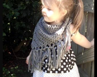 Box Stitch Triangle Scarf // Shawl // Toddler and Child Sizes, Mesh, Open Stitch