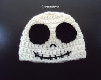 Crochet Skeleton Hat, Skeleton Hat, Skeleton Beanie, Halloween Hat, Crochet Halloween Hat, Skull Hat,
