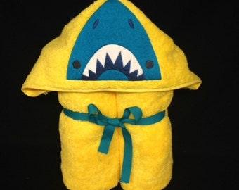 Hooded Bath Towel, Shark, Ocean, Fish