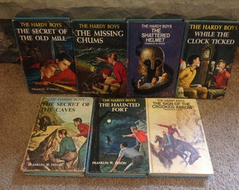 Hardy Boys Lot of 7 Hardcover Books from 1970s