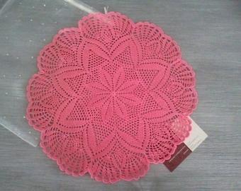 Doily crochet Flower Pink