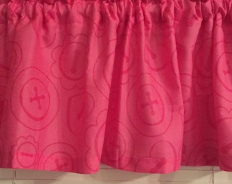 LaLaLoopsy Buttons Window Valance ~ 58""