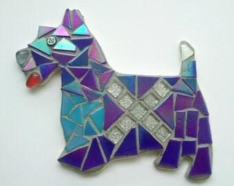 Saltire Scottie Dog Mosaic Home Decor