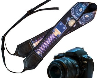 Technical Camera Strap. Original design DSLR / SLR Camera Strap with sprockets. Men's camera strap by InTePro
