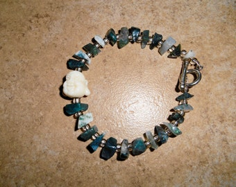 Hotai Buddha Moss Agate Bracelet