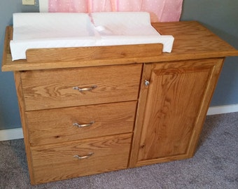 Oak Baby Changing Table