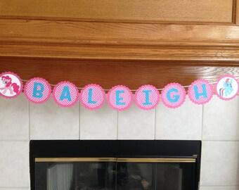 My Little Pony Banner - Jeep Banner - Heart Banner - Elmo Banner - Birthday Banner - Name Banner