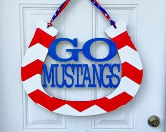 Mustangs door hanger, door hanger, mustangs