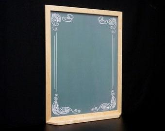 "Green ""Artisan Chalkboard"" Whiteboard - Large Framed Wall Dry Erase Board - Memo Board Message Center Note Board Command Center Office Dorm"
