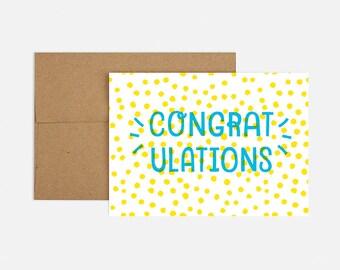 Polka Dot Congrats Greeting Card