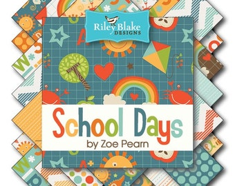 School Days Fat Quarter Bundle by Zoe Pearn for Riley Blake