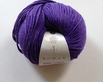 Rowan Pima Cotton (Shade 081) - Dusk (Purple) - 50g ball