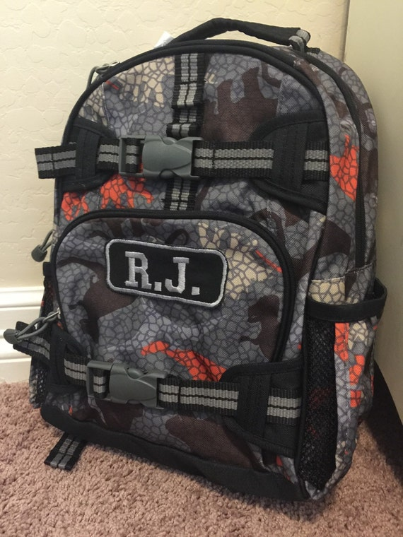 Grey Dinosaur Small Pottery Barn Backpack Personalized