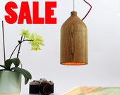 SALE Minimalist wooden ceiling light.Wooden lamp shade. Solid ash.