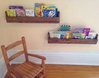 Rustic Pallet Wood Handmade Bookshelves