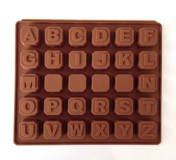New alphabet blocks cake chocolate silicone mold cupcake for Alphabet blocks cake decoration