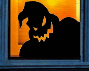 oogie boogie from the nightmare before christmas vinyl wall decal sticker halloween window decor or you