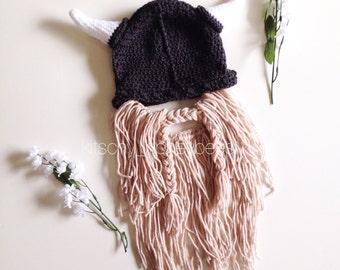 Viking hat with beard, Viking beard hat, Viking photo prop, Viking costume