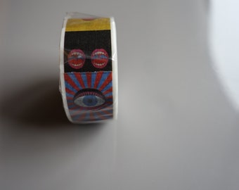 mt Japanese Washi Tape with eye and mouth by artist Yokoo Tadanori