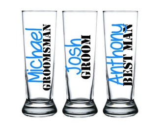 11 Personalized Groomsmen Beer Mugs,Grooms Mug, Groomsmen Gift, Best Man Gift