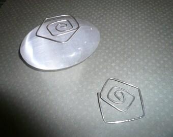 Sterling Silver Swirling Hoop Earrings