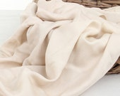 61 inch Width, Half Yard, Plain Silk Linen Cotton Fabric, High-end Women Clothing Fabric