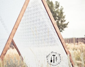 Lace Cover for Large A-Frame Play Tent - Photo Prop