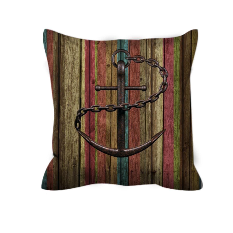 Nautical Throw Pillows For Couch : Throw Pillow Sofa Pillow Nautical Anchor