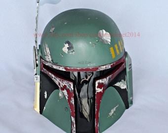 1:1 Halloween Costume, Star Wars Boba Fett Helmet, Boba Mask, Boba Cosplay, Boba Costume, Halloween mask from Star Wars Movie MA204