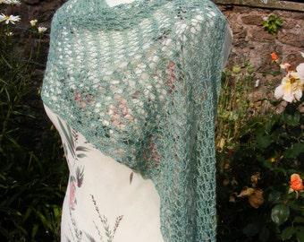 Lacy silk wrap